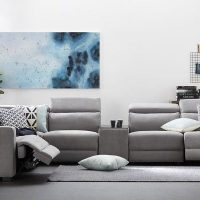 Sofa Lounge Style, Fabric and Comfortness